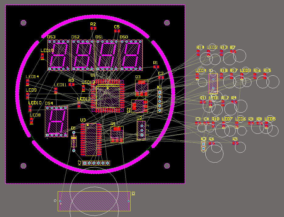Content: Component position within the PCB, Altium Designer. Source: Momex.cat